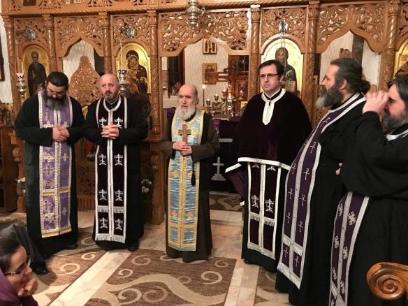 Capela Facultatii de Teologie Ilarion V Felea slujirea Canonului celui Mare